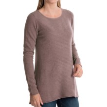 Forte Cashmere Textured Front Swing Top Sweater (For Women) in Sorrel - Closeouts