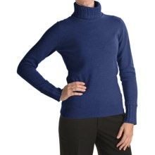 Forte Cashmere Turtleneck Sweater (For Women) in Lapis - Closeouts