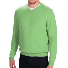 Forte Cashmere V-Neck Cashmere Sweater (For Men) in Meadow - Closeouts