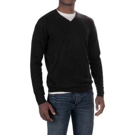 Forte Cashmere V-Neck Sweater (For Men) in Black - Closeouts