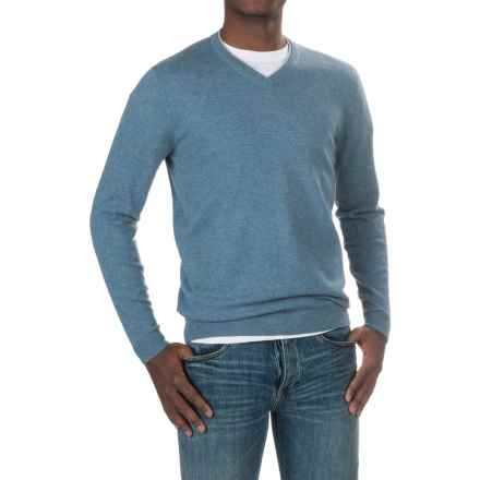 Forte Cashmere V-Neck Sweater (For Men) in Blue Fog - Closeouts