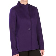 Forte Cashmere Wool-Cashmere Blazer - Ribbed Back (For Women) in Plum Brandy - Closeouts