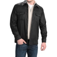 Forte Cashmere Woven Shirt Jacket - Cashmere (For Men) in Black - Closeouts