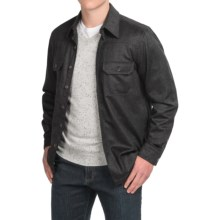 Forte Cashmere Woven Shirt Jacket - Cashmere (For Men) in Charcoal - Closeouts