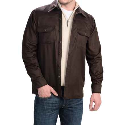 Forte Cashmere Woven Shirt Jacket - Cashmere (For Men) in Chocolate - Closeouts