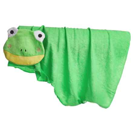 """Four Paws Magic Coat Bath Time Hooded Dog Towel - 27x36"""" in Frog - Closeouts"""