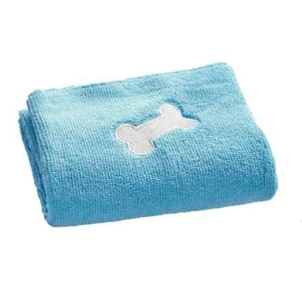 "Four Paws Magic Coat Microfiber Towel - 22x18"" in Blue - Closeouts"