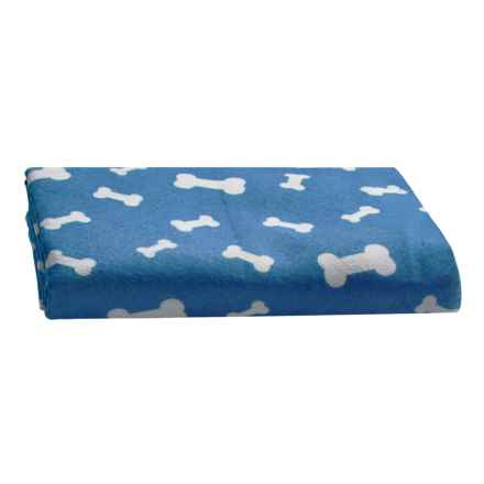 """Four Paws Magic Coat Super-Absorbent Dog Towel - 30x25"""" in Blue - Closeouts"""