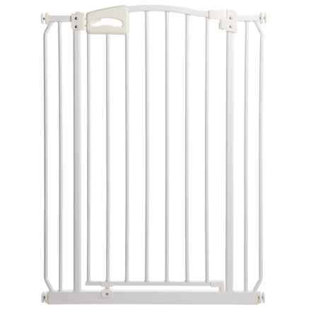 Four Paws Metal Auto-Closing Dog Gate - Extra Tall in White - Closeouts