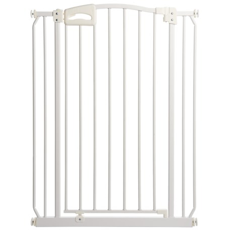 Four Paws Metal Auto-Closing Dog Gate - Extra Tall in White