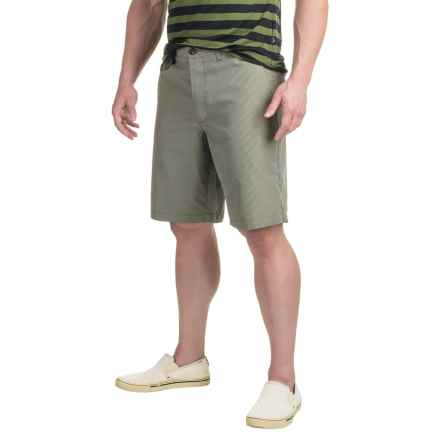 Four-Pocket Polyester Shorts (For Men) in Green/White Check - 2nds
