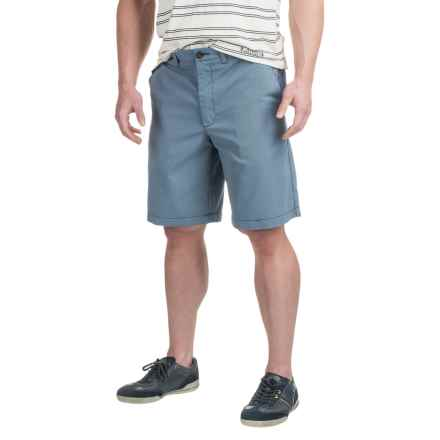 Four-Pocket Polyester Shorts (For Men) in Navy/White Stripe - 2nds