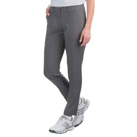 Four-Pocket Solid Golf Pants - Flat Front (For Women) in Grey - 2nds