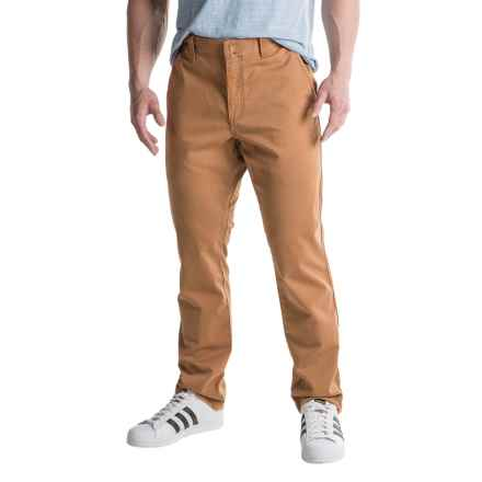 Four-Pocket Woven Pants - Cotton (For Men) in Taffy-Spice - 2nds