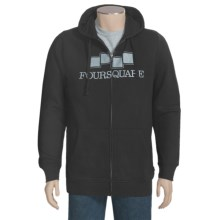 Foursquare Berm Hoodie Sweatshirt (For Men) in Blacktop - Closeouts