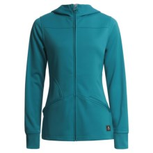 Foursquare Crest Hooded Jacket - Soft Shell, Bonded Fleece (For Women) in Blue Book - Closeouts