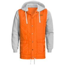 Foursquare Frame Hoodie Sweatshirt - Removable Sleeves (For Men) in Safety Orange - Closeouts
