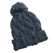 Foursquare Mop Top Beanie Hat (For Women) in Midnight Blue - Closeouts