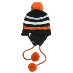 Foursquare Skinny Checks Beanie Hat (For Women) in Blackout