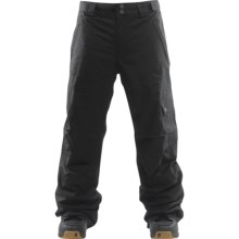 Foursquare Work Snowboard Pants - Waterproof, Insulated (For Men) in Blacktop - Closeouts