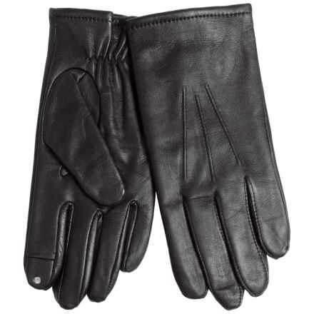 Fownes Brothers Cashmere-Lined Leather Gloves - Touch-Screen Compatible (For Men) in Black - Closeouts