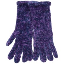 Fownes Brothers Chenille Gloves (For Women) in Blueberry - Closeouts
