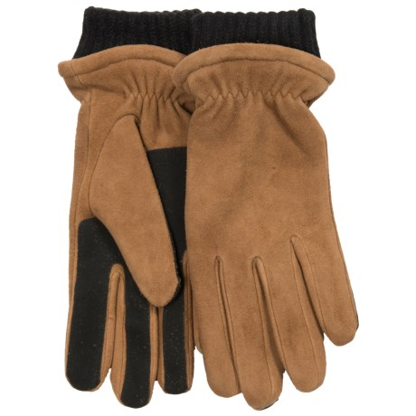 Fownes Brothers Chenille-Lined Gloves - Suede (For Women) in Chestnut