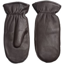 Fownes Brothers Deerskin Thinsulate® Mittens (For Women) in Brown - Overstock