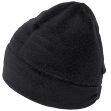 Fownes Brothers Polar Fleece Beanie with Ponytail Hole (For Women) in Black - Overstock