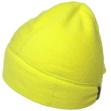 Fownes Brothers Polar Fleece Beanie with Ponytail Hole (For Women) in Bright Chartreuse - Overstock