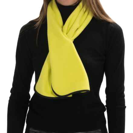 Fownes Brothers Polar Fleece Self-Bound Scarf (For Women) in Bright Chartreuse - Overstock