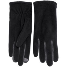 Fownes Brothers Touchpoint Polar Fleece Gloves - Touchscreen Compatible (For Women) in Black - Overstock
