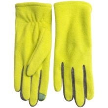 Fownes Brothers Touchpoint Polar Fleece Gloves - Touchscreen Compatible (For Women) in Bright Chartreuse - Overstock
