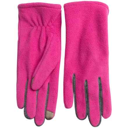 Fownes Brothers Touchpoint Polar Fleece Gloves - Touchscreen Compatible (For Women) in Rose Violet - Overstock