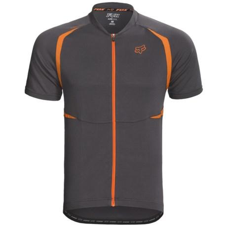 Fox Racing Aircool Mountain Bike Jersey - Full Zip, Short Sleeve (For Men) in Charcoal