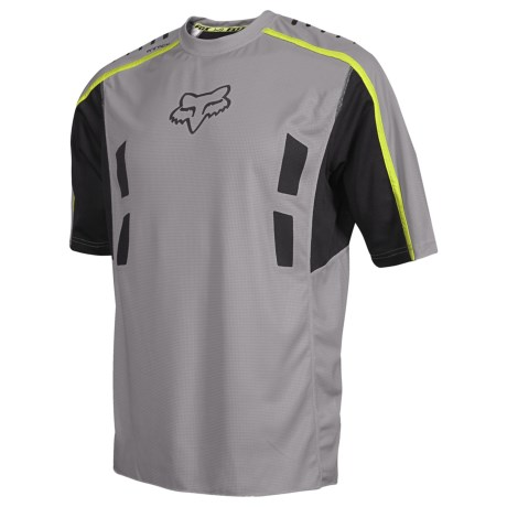 Fox Racing Attack Bike Jersey - Short Sleeve (For Men) in Grey