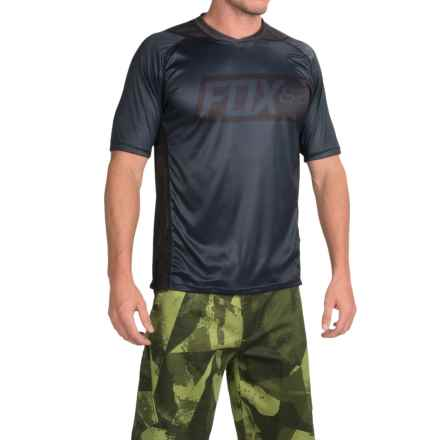 Fox Racing Attack Cycling Jersey - Short Sleeve (For Men) in Black - Closeouts