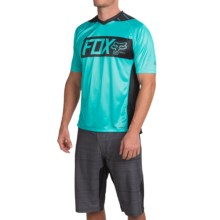 Fox Racing Attack Cycling Jersey - Short Sleeve (For Men) in Ice Blue - Closeouts