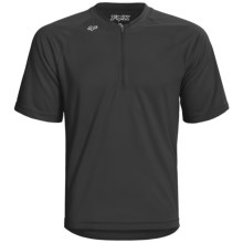 Fox Racing Baseline Mountain Bike Jersey - Zip Neck, Short Sleeve (For Men) in Black - Closeouts