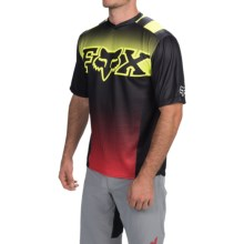 Fox Racing Covert Cycling Jersey - Short Sleeve (For Men) in Black Yellow - Closeouts