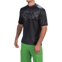 Fox Racing Covert Cycling Jersey - Short Sleeve (For Men) in Black - Closeouts