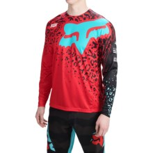 Fox Racing Demo Cauz Mountain Cycling Jersey - Long Sleeve (For Men) in Red - Closeouts