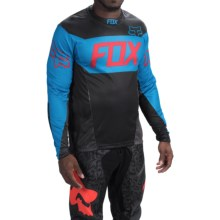 Fox Racing Demo Device Cycling Jersey - Long Sleeve (For Men) in Black/Blue - Closeouts