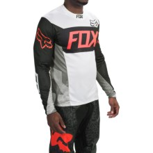 Fox Racing Demo Device Cycling Jersey - Long Sleeve (For Men) in White - Closeouts