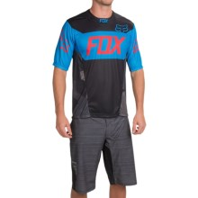 Fox Racing Demo Device Cycling Jersey - Short Sleeve (For Men) in Black/Blue - Closeouts