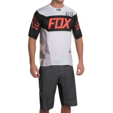 Fox Racing Demo Device Cycling Jersey - Short Sleeve (For Men) in White - Closeouts