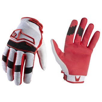 Fox Racing Digit Mountain Bike Gloves (For Men and Women) in Red/White