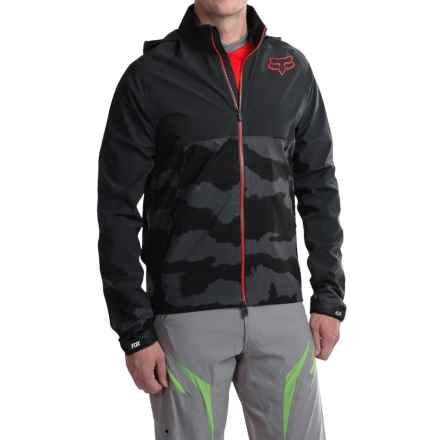 Fox Racing Downpour Jacket - Waterproof (For Men) in Black Camo - Closeouts