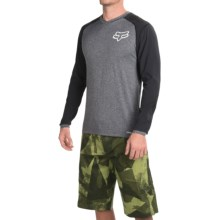 Fox Racing Explore Adventure Trail Mountain Bike Jersey - Long Sleeve (For Men) in Heather Grey - Closeouts