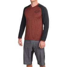 Fox Racing Explore Adventure Trail Mountain Bike Jersey - Long Sleeve (For Men) in Heather Red - Closeouts